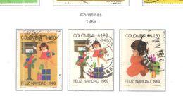 Colombia PA 1969 Natale     Scott.C523/525+ Se Scan On Scott.Page - Colombie