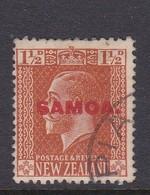 Samoa SG 136 1916-19 New Zealand Stamp King George V Overprinted,one And Half Penny Orange Brown,used - Samoa