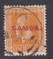 Samoa SG 137 1916-19 New Zealand Stamp King George V Overprinted,two Pence Yellow,used - Samoa