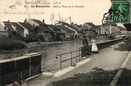 LA NEUVEVILLE -88- QUAI ET PONT SUR LA MEURTHE - France