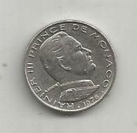 Monnaie, MONACO , 1/2 Franc , 1978 , 2 Scans - 1960-2001 New Francs