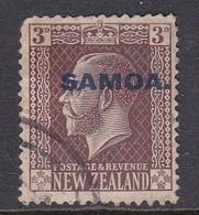 Samoa SG 140 1916-19 New Zealand Stamp King George V Overprinted,3 Pence Chocolate,used - Samoa