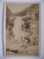 Switzerland Cabinet Photo CDV - Chemin De Fer Du St. Gothard - Defile Et Pont Du Rohrbach - Ad. Braun & Cie. Dornach - Photos