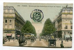 CPA  75 : PARIS Place De L'opéra Très Animée    VOIR  DESCRIPTIF  §§§ - France