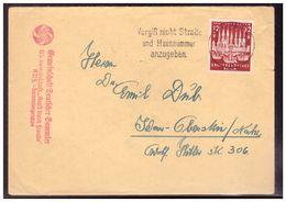 Dt.- Reich (006399) Brief EF MNR 862 Mit ABS NS Gemeinschaft KDF Sammlergruppe - Deutschland