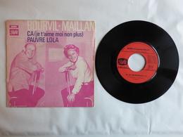 EP 45T BOURVIL ET JACQUELINE MAILLAN  LABEL PATHE  2C 006 11079 CA ( JE T'AIME MOI NON PLUS ) - Disco & Pop