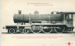 Les Locomotives 254 Belgique Locomotive Compound Chemins De Fer De L'etat Belge - Trains