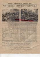 75- PARIS- PUBLICITE LIBRAIRIE J. STRAUSS- 5 RUE DU CROISSANT- JEMMAPES -LE VENGEUR-JAZET-POISSONS AVRIL-CARTES POSTALES - Advertising