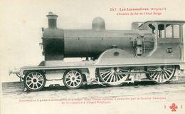 Les Locomotives 247 Belgique Chemins De Fer De L'etat Belge Locomotive Pour Trains Express - Trains
