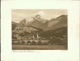 Kupfertiefdruck : Feldkirch. Frastanz Mit Den Drei Schwestern. - Estampas & Grabados
