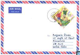 Sri Lanka Stamps, Long Jump, Sports, Personalized Cover - Sri Lanka (Ceylon) (1948-...)