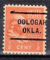 USA Precancel Vorausentwertung Preo, Locals Oklahoma, Oologah 712 - Vereinigte Staaten