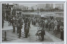 Photo Sur Plaque Métal Tole THE HORSE RACE TRACK 1930 Course De Chevaux  BEAU  FORMAT 300mm X 200mm Très Très Bon état - Advertising (Porcelain) Signs