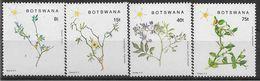1988 BOTSWANA 595-98** Fleurs - Botswana (1966-...)