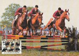 D33020 CARTE MAXIMUM CARD FD 1994 NETHERLANDS - HORSE JUMPING WORLD EQUISTRIAN GAMES THE HAGUE CP ORIGINAL - Jumping