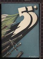 393P/29  CPA CARTOLINA MILITARE VIAGGIATA 1938 DEL 55° REGGIMENTO FANTERIA MARCHE STILLIZZATA P.GELLI - Weltkrieg 1939-45