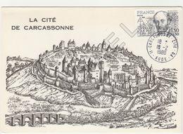 Carte Maximum - La Cité De Carcassonne (Eugène Viollet Le Duc) (Carcassonne 1980) - 1980-89