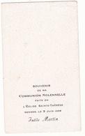 IMAGE PIEUSE ANNONCANT LA COMMUNION DE JOELLE MARTIN Le 5 Juin 1958 à Rennes - Communion