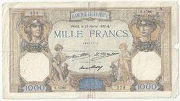 France 1000 Francs 25 Fevrier 1932 Cérès - 1871-1952 Circulated During XXth