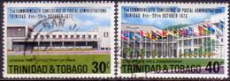 TRINIDAD & TOBAGO 1973 SG #445-46 Compl.set Used Commonwealth Conference Of Postal Administrations - Trinidad & Tobago (1962-...)
