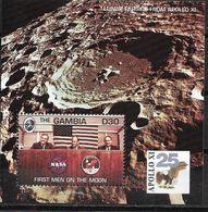 1994 Gambia  Mi. Bl 233 **MNH . 25. Jahrestag Der Ersten Bemannten Mondlandung APOLLO  XI - Gambia (1965-...)