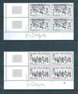 Andorre Francais Timbres De 1981 N°292/93 Neufs ** En Bloc De 4 - Ongebruikt