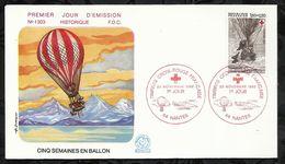 CROIX ROUGE FRANCAISE . CINQ SEMAINES EN BALLON . 20 NOVEMBRE 1982 . NANTES . - FDC