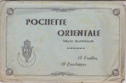 Pochette Orientale Illustrée Contenant 10 Feuilles & 10 Enveloppes - Main De Fatma Avec Croissant De Lune - 120 X 18 - Supplies And Equipment