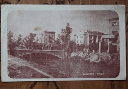 Russian Asia. TASHKENT. Urda River With Bridge. OLD Vintage Postcard 1946 - WITH TRAM - Tramway- Rare! - Uzbekistan