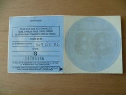 VIGNETTE AUTOMOBILE ENTIERE  GRATIS  1986 - Fiscale Zegels