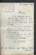 LETTRE DE 1899 ECRITE DE PARIS Boul SAINT MICHEL DE G GOEN GÉRANCE DE PROPRIÉTÉS  : - Manuscrits