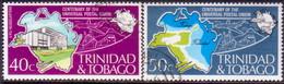 TRINIDAD & TOBAGO 1974 SG #451-52 Compl.set Used UPU Centenary - Trinidad & Tobago (1962-...)