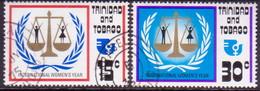TRINIDAD & TOBAGO 1975 SG #457-58 Compl.set Used Int. Women's Year - Trinidad & Tobago (1962-...)