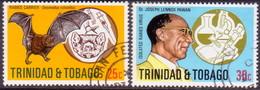 TRINIDAD & TOBAGO 1975 SG #459-60 Compl.set Used Isolation Of Rabies Virus - Trinidad & Tobago (1962-...)