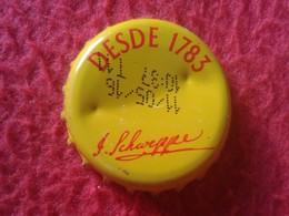 CHAPA DE SPAIN ESPAÑA USADA USED BOTTLE CROWN CAP KRONKORKEN CAPSULE TAPPI CORONA SCHWEPPES DESDE 1783 VER FOTO/S Y DESC - Chapas Y Tapas