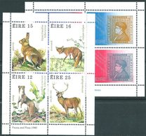 IRELAND : N104  -  1976/80  2  MNH Sheets   -  Yvert  € 20 - 1949-... Repubblica D'Irlanda
