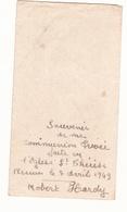 IMAGE PIEUSE ANNONCANT LA COMMUNION DE ROBERT HARDY Le 7 Avril 1949 à Rennes - Communion