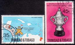 TRINIDAD & TOBAGO 1976 SG #474-75 Compl.set Used Cricket Cup - Trinidad & Tobago (1962-...)