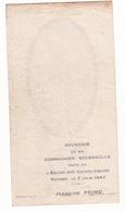 IMAGE PIEUSE ANNONCANT LA COMMUNION DE JEANNINE PRIME Le 5 Juin 1947 à Rennes - Communion