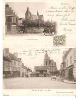LOT 2 CPA - Limours - Rue Du Couvent & La Place 1903-1905 - Limours