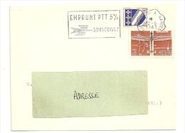 LOIRE ATLANTIQUE  - Dépt N° 44 = LE CROISIC A NANTES 1963 =  FLAMME CONVOYEUR  = SECAP  ' EMPRUNT PTT 5% ' - Marcophilie (Lettres)
