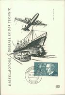 Maximumkarte Saarland 1958, Rudolf Diesel, Michel 432, Stempel Ohne Buchstabe (210) - FDC