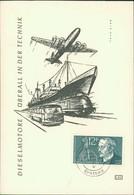"Maximumkarte Saarland 1958, Rudolf Diesel, Michel 432, Stempel Buchstabe "" C "" (213) - FDC"