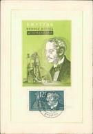 """Maximumkarte Saarland 1958, Rudolf Diesel, Michel 432, Stempel Buchstabe """" G """", Druckstellen, Pressure Marks (214) - FDC"""
