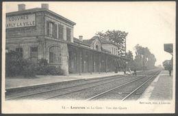 Louvres - La Gare - Vue Des Quais - Berthault Edit. 12 - Voir 2 Scans - Louvres