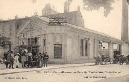 69 LYON (Croix Rousse) Gare Du Funiculaire Croix-Paquet Sur Le Boulevard - Lyon