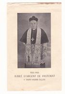 IMAGE PIEUSE PORTRAIT ANNONCANT LE JUBILE D'ARGENT DE PASTORAT DE FR LOIVET à St Pierre Eglise 50 Le 10 Aout 1950t - Faire-part