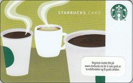 Norwegen  Starbucks With Cup`s  2014 - Gift Cards