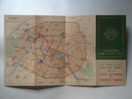 RATP. CINQUANTENAIRE DU MÉTRO 1900-1950. RÉSEAU DU MÉTRO - FRANCE, 1950. MÉTROPOLITAIN. - Transportation Tickets