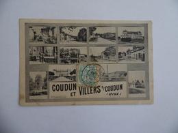 Cpa  Coudun Et Villers S/Coudun  Multivues  1906 - France